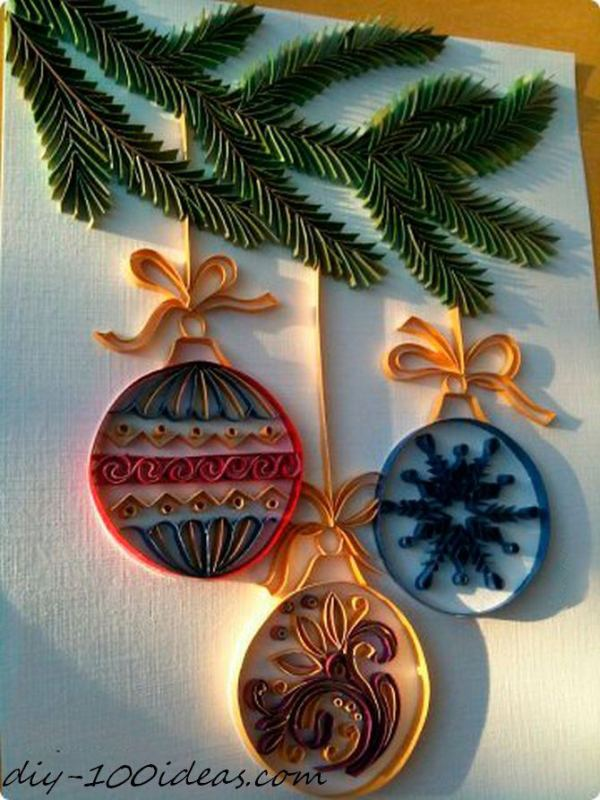 Quilling Christmas Card (11)