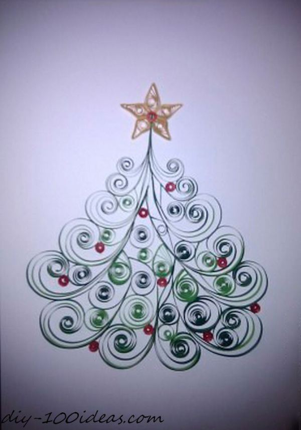 Quilling Christmas Card (8)