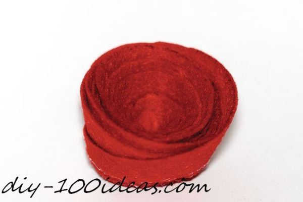 Rolled Felt Flower Rose (4)