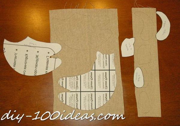 Free sewing pattern Tilda cat (3)