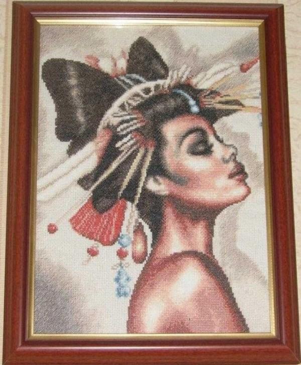 cross stitch african woman (1)
