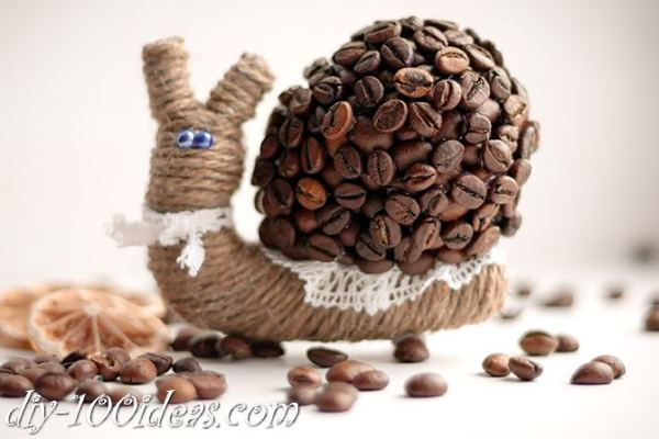 DIY Coffee Bean snail (12)