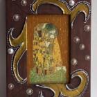 """The kiss"" Klimt Decoupage wooden frame"