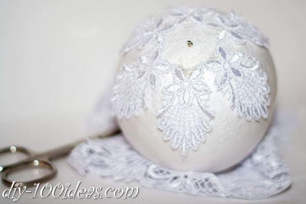 ball Christmas ornament crafts (11)