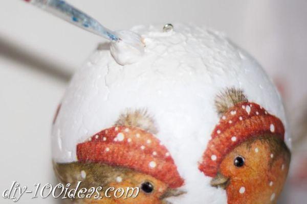 ball Christmas ornament crafts (6)