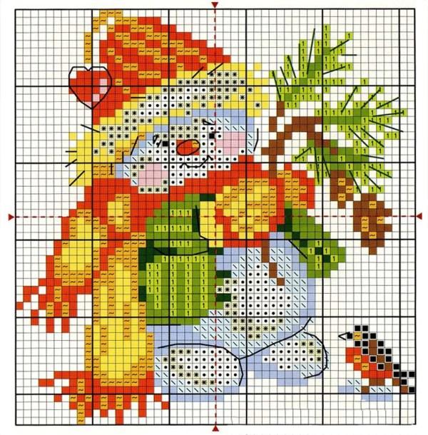 free_cross_stitch_pattern_snowman-11
