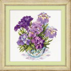 Cross Stitch Pattern Irises