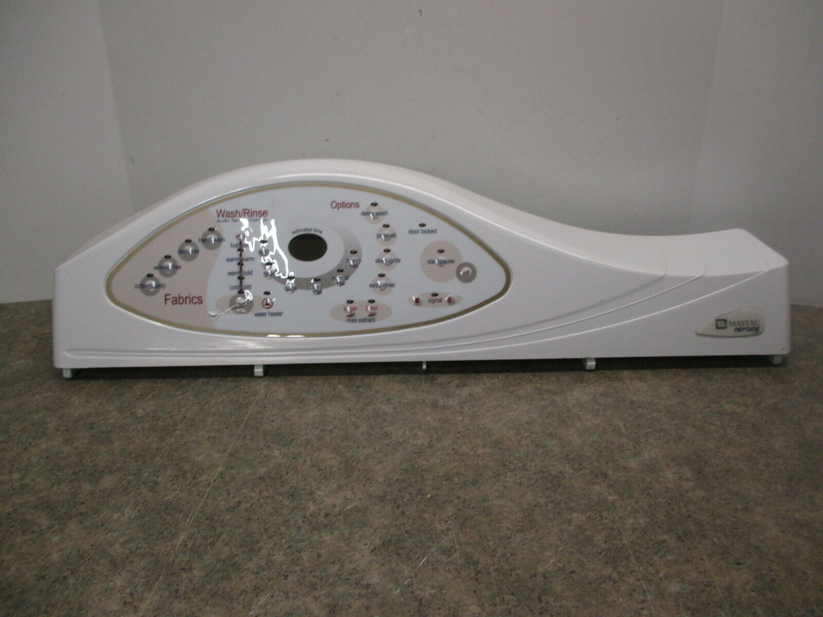 WHIRLPOOL WASHER CONTROL PANEL & CONTROL BOOARD PART # 22003910