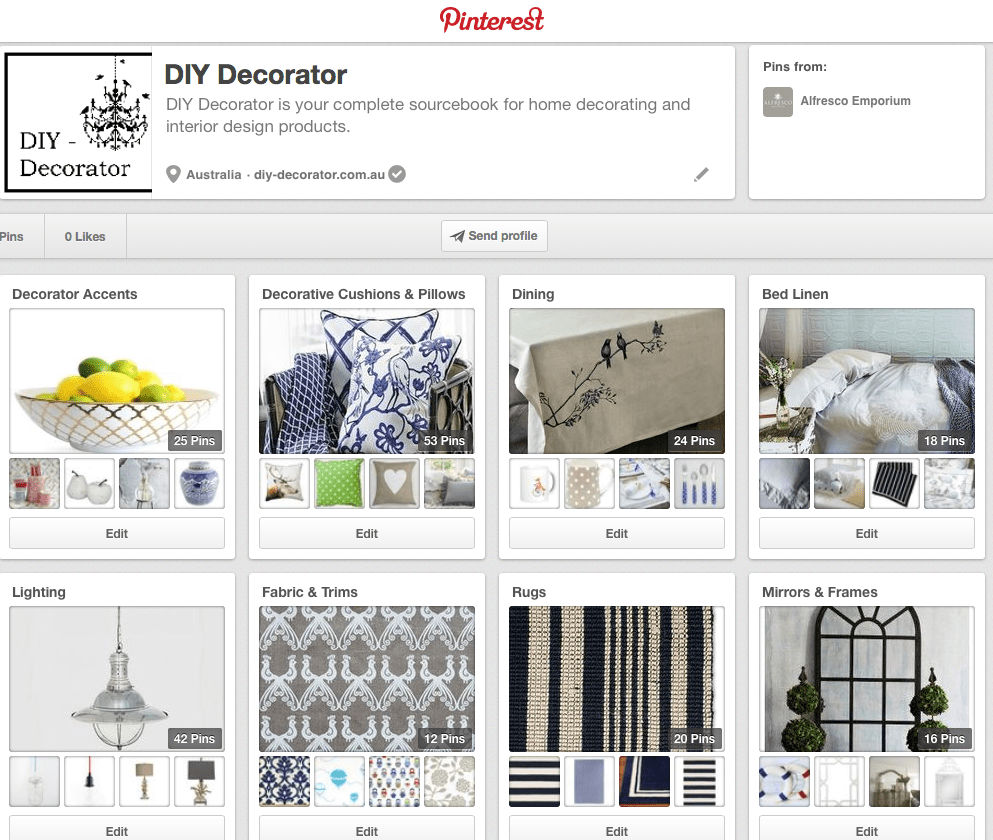 Pinterest Board DIY Decorator