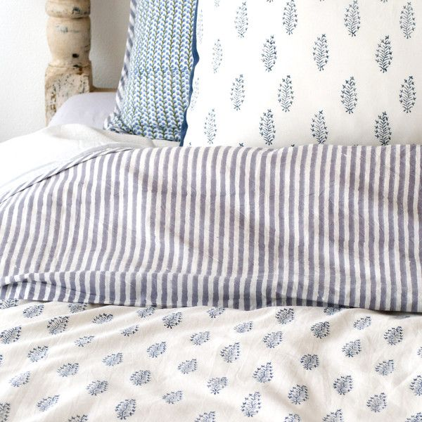 paisley and stripe bed linen