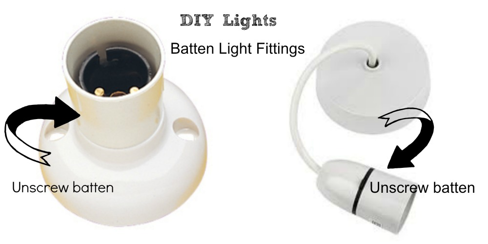 DIY Batten Light Fittings