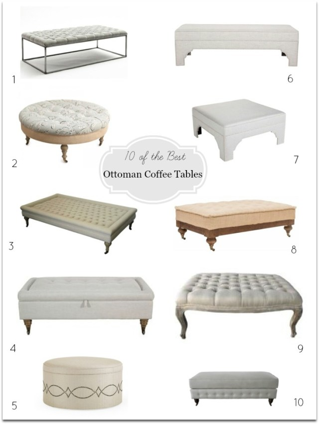 Ottoman Coffee Tables - DIY Decorator