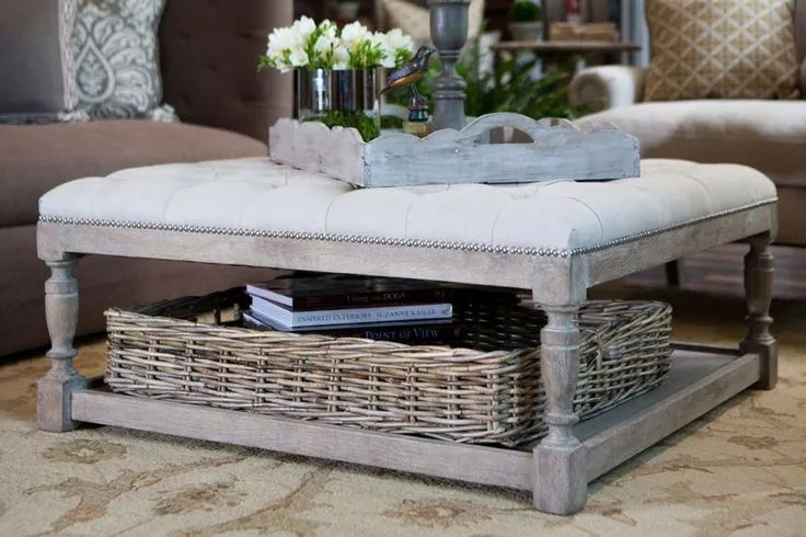 Tufted ottoman coffee tables