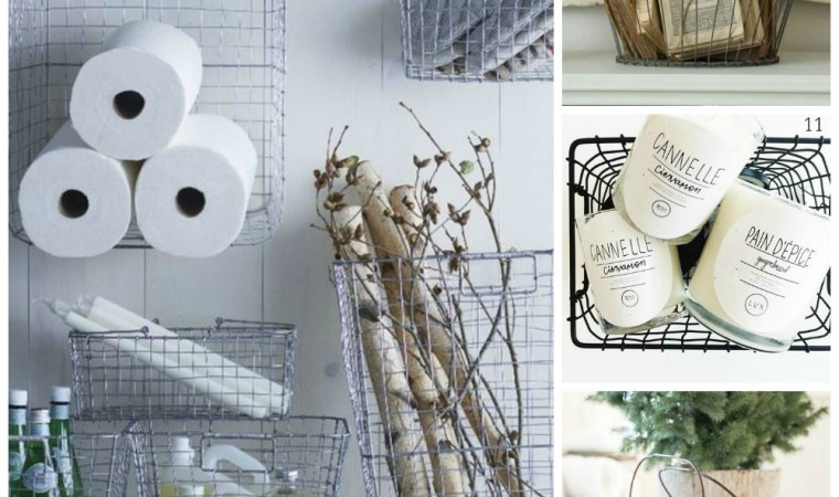 Decorating with wire baskets