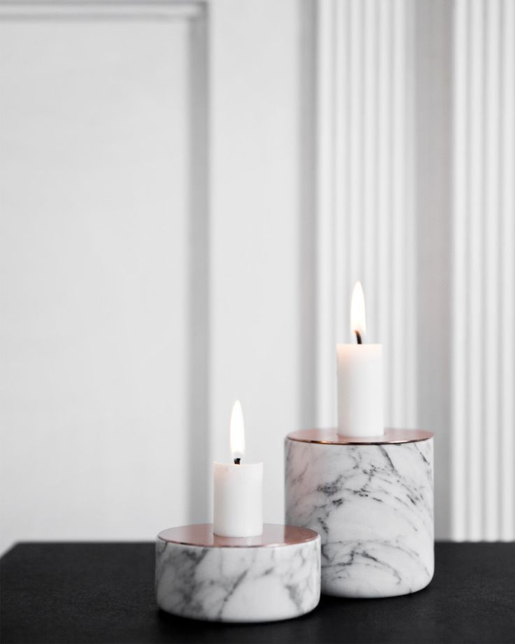 marble homewares candle holder