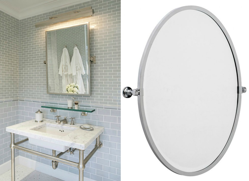 Bathroom home decor pivot mirrors