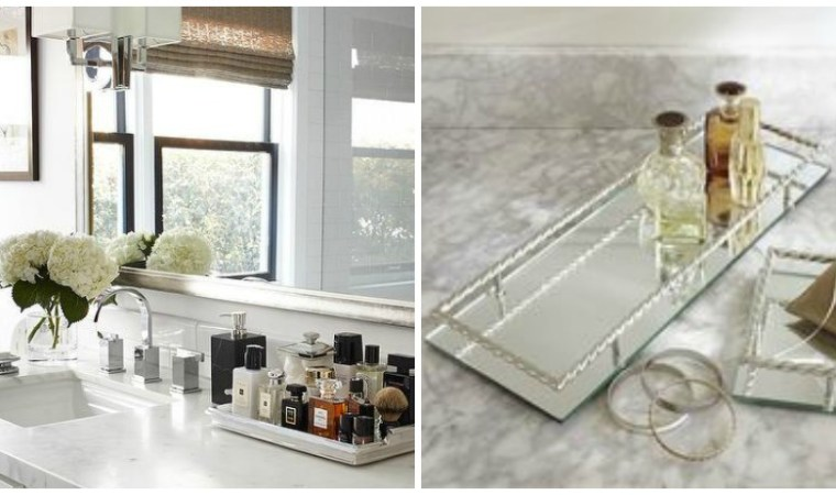 bathroom home decor trays