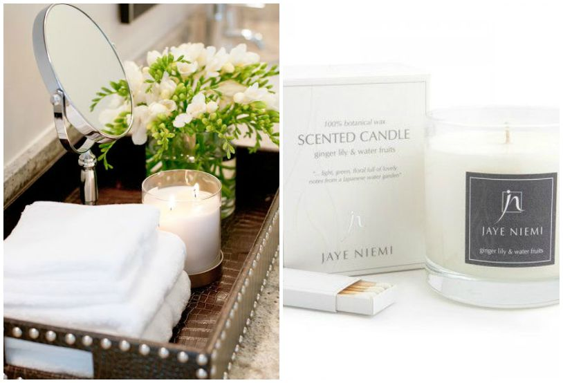 ways to use candles bathroom
