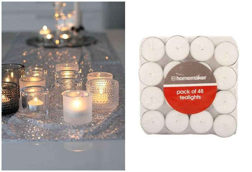 ways to use candles tealights