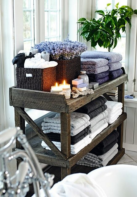 displaying towels