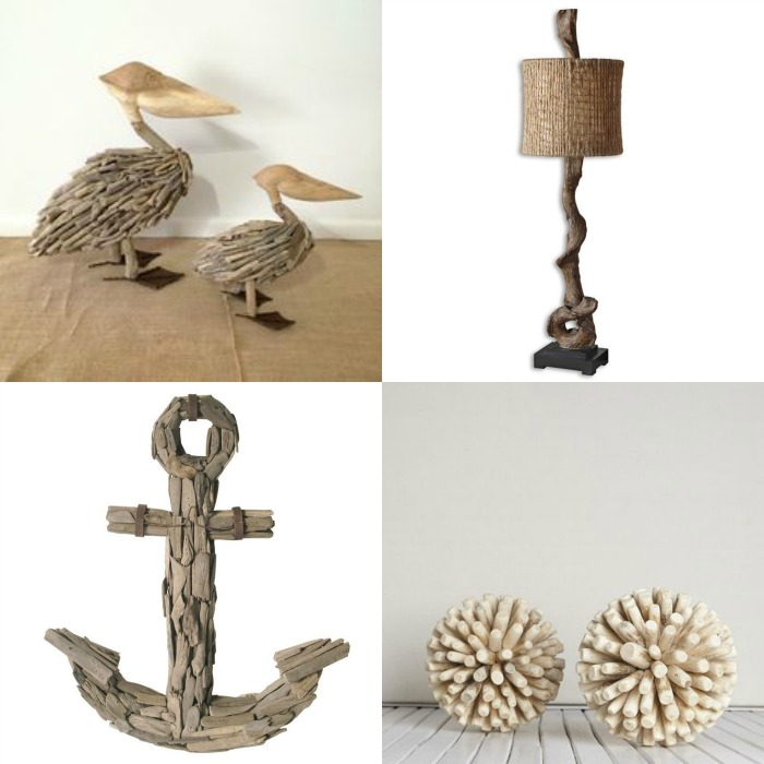 coastal decor driftwood