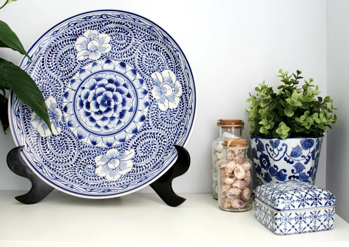 nautical style living blue plate