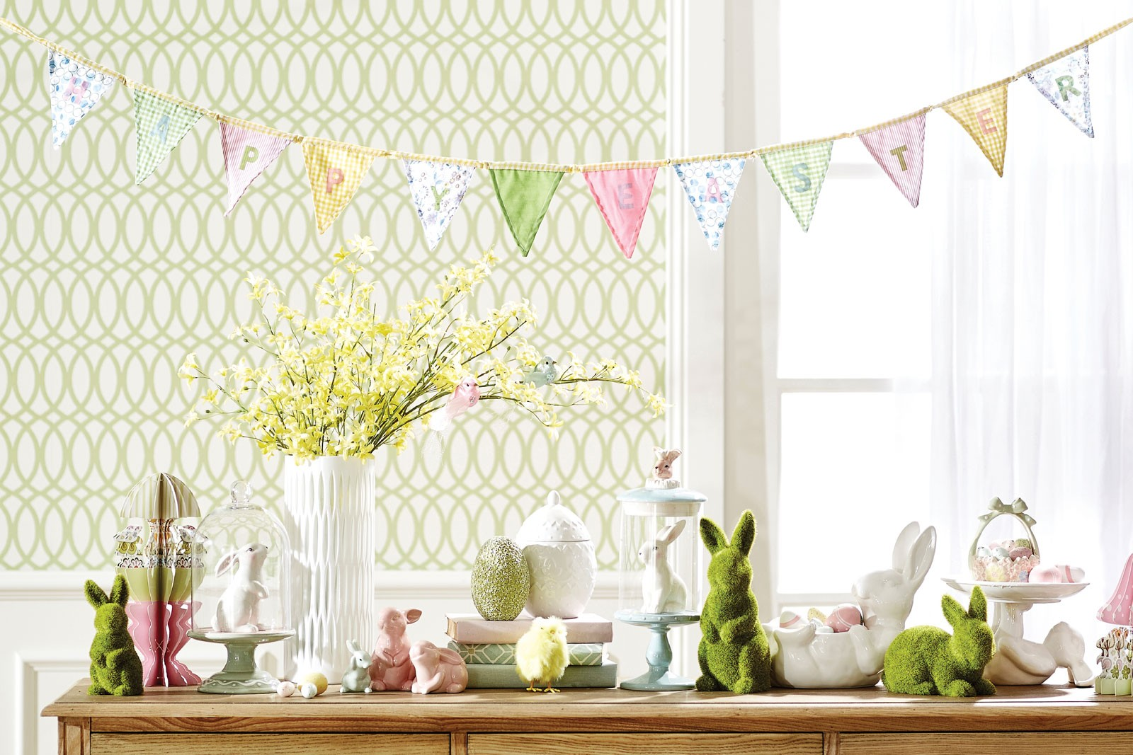How to decorate for Easter bunting