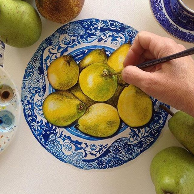Sprout Gallery painting pears