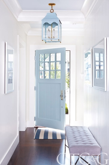 blue painted door