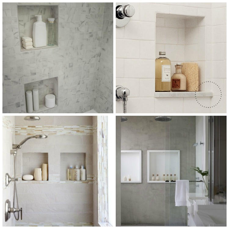 Square shower niches