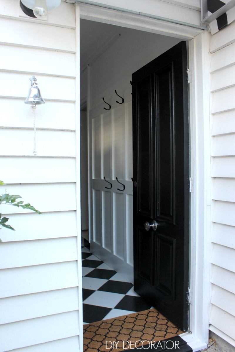 back door makeover mudroom