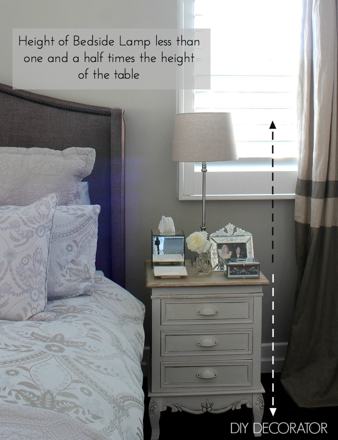 Bedside lamp height