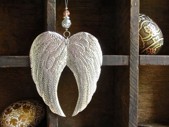 Handcrafted Christmas decorations Angel Wings