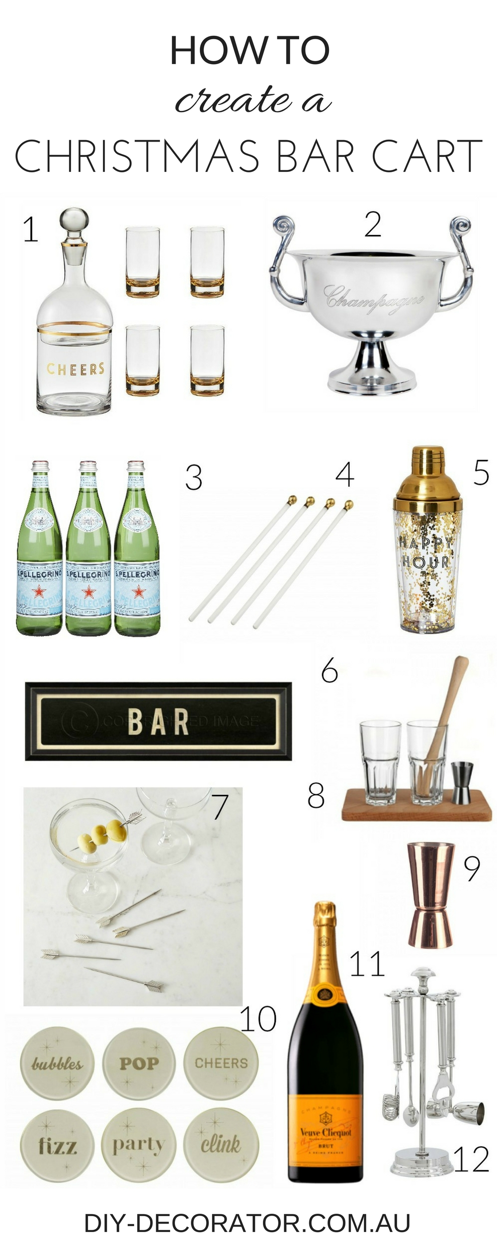 Create a Christmas Bar Cart