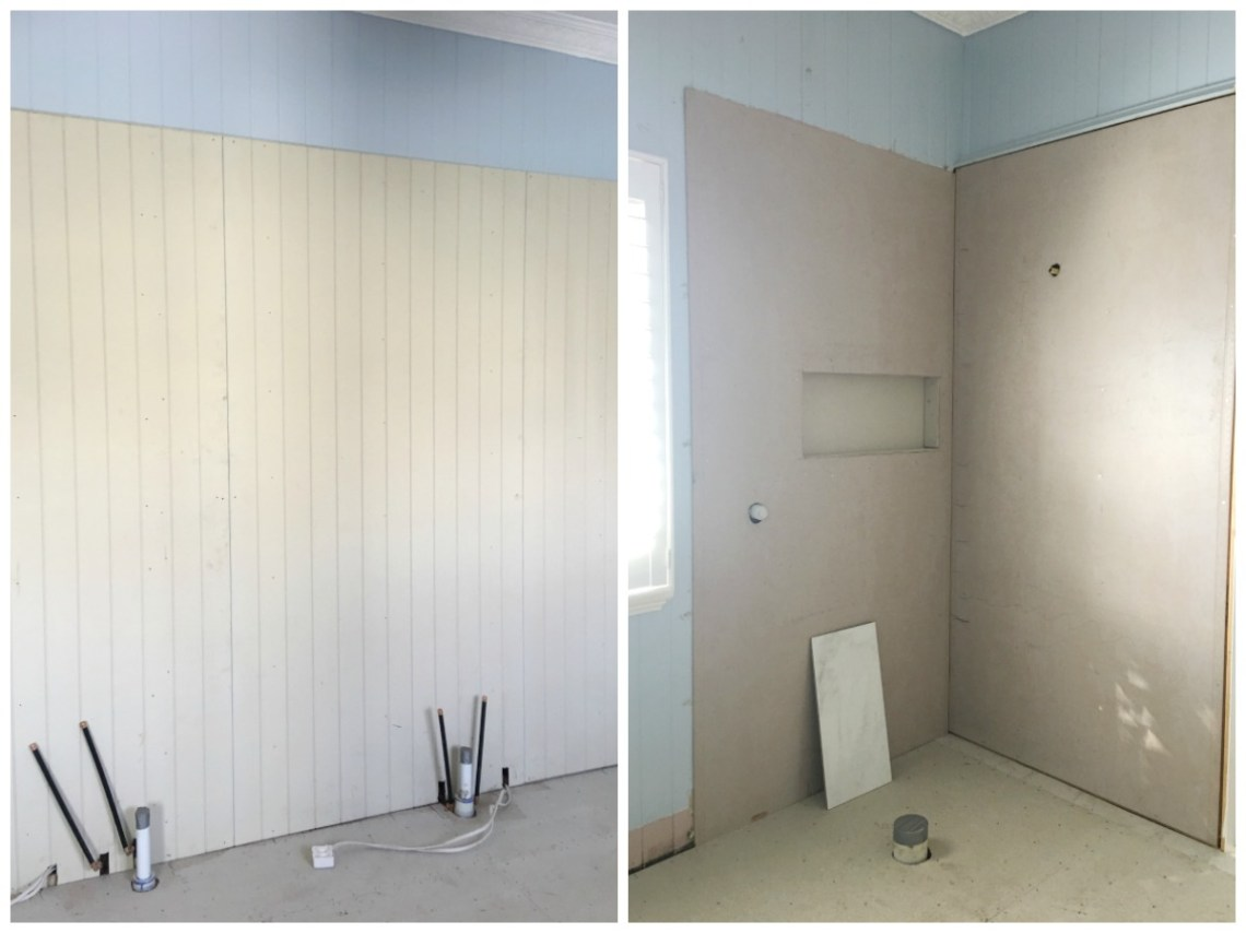 Ensuite renovation construction phase