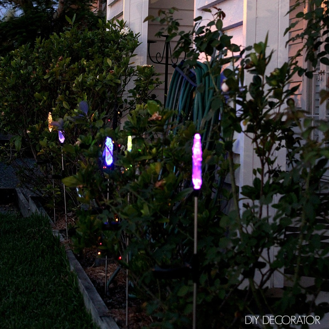 Easy Christmas Lights Garden Stakes