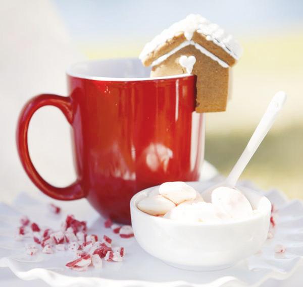 Cute Christmas Treats Mini Gingerbread House Hot Chocolate