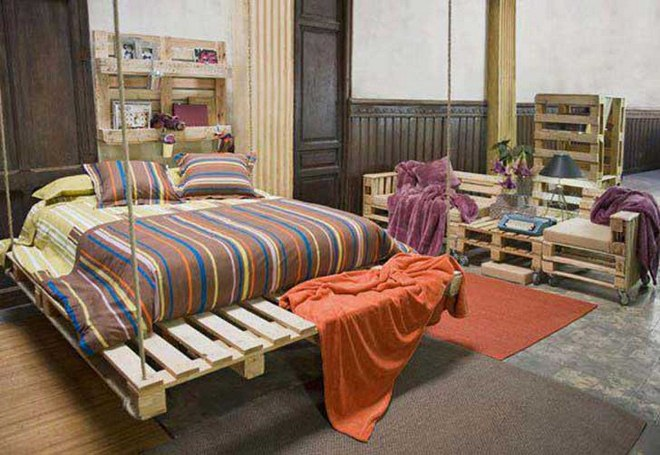 DIY pallet furniture ideas - 40 projects that you haven't seen on Bedroom Pallet Ideas  id=23914
