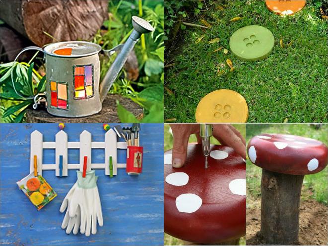 DIY garden decor ideas - 6 projects for yard and patio on Easy Diy Garden Decor id=75247