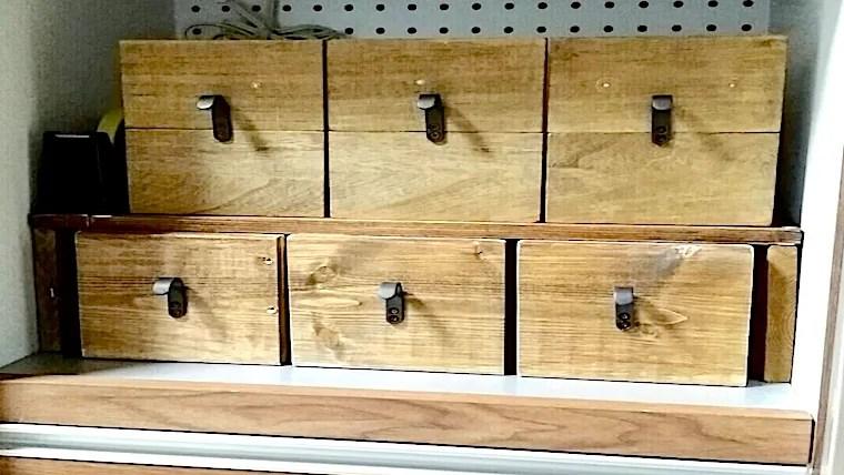 100均の収納で作った木製ボックス