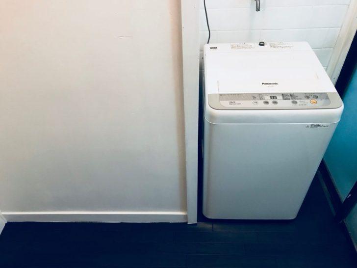 クッションフロアの上に洗濯機を設置