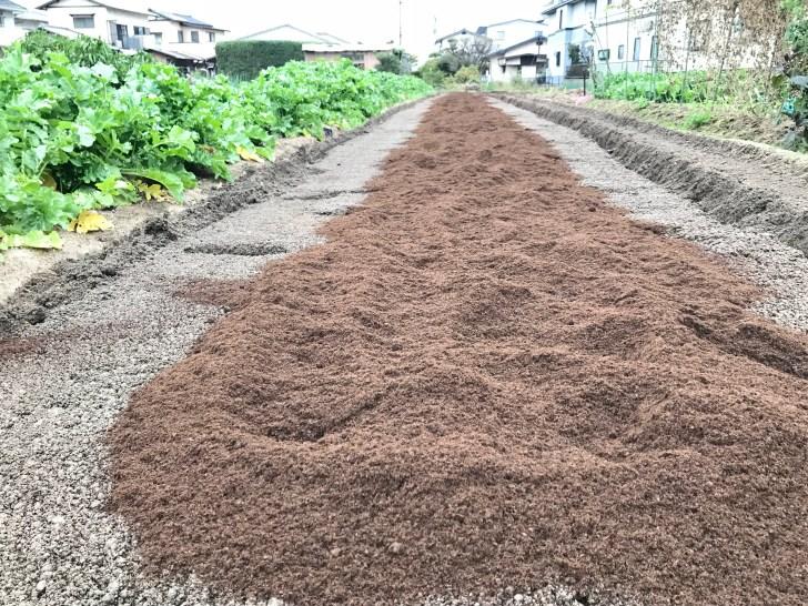 均し終わった堆肥