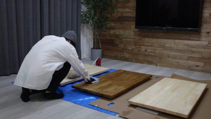 キッチンシェルフを塗装する