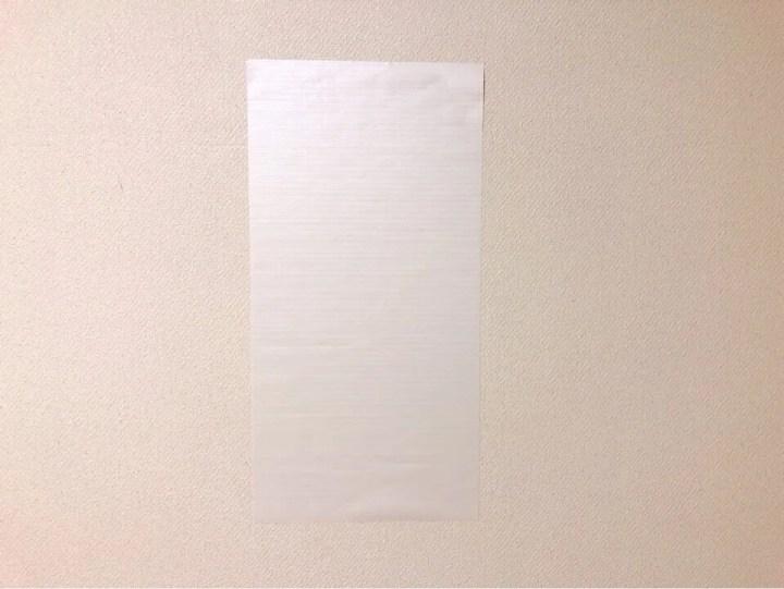 ダイソーの小さめリメイクシート 木目調ホワイトを壁に貼ってみた