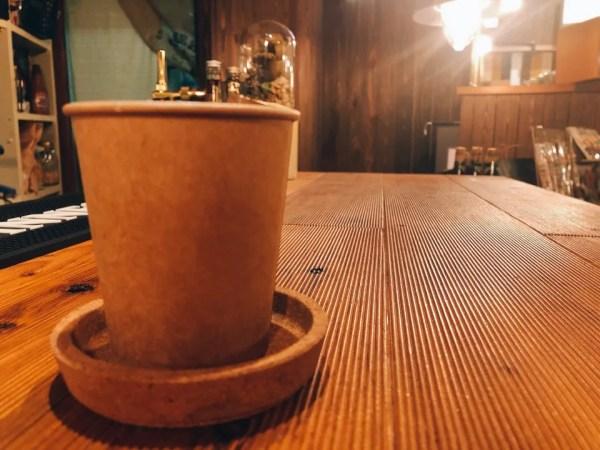住吉の地下にあるカフェ『cafe&bar MALGOT』のお冷