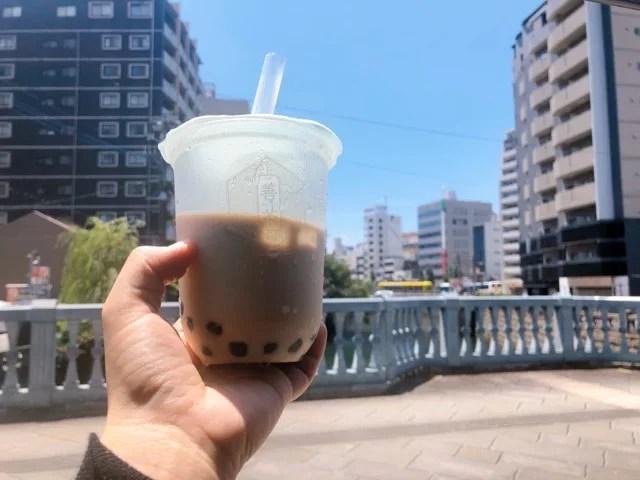 善茶(よいちゃ)の黒糖タピオカミルク