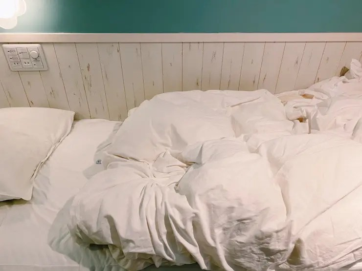 キッズロッジのベッドは狭い