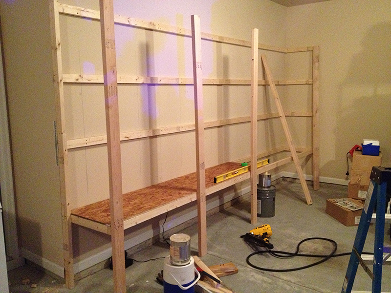 how to build sturdy garage shelves