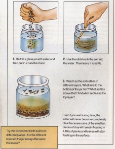 What is soil made of – experiment for kids