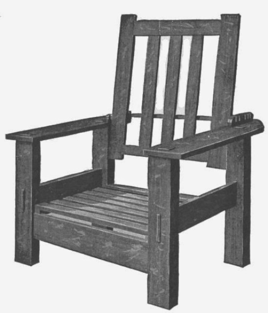 Complete Morris Chair Without Cushion